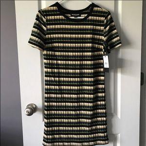Fashion Union Dresses - Fashion Union • Green Striped Knit Dress